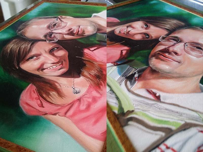 свою портрет по фото через копирку умельцы