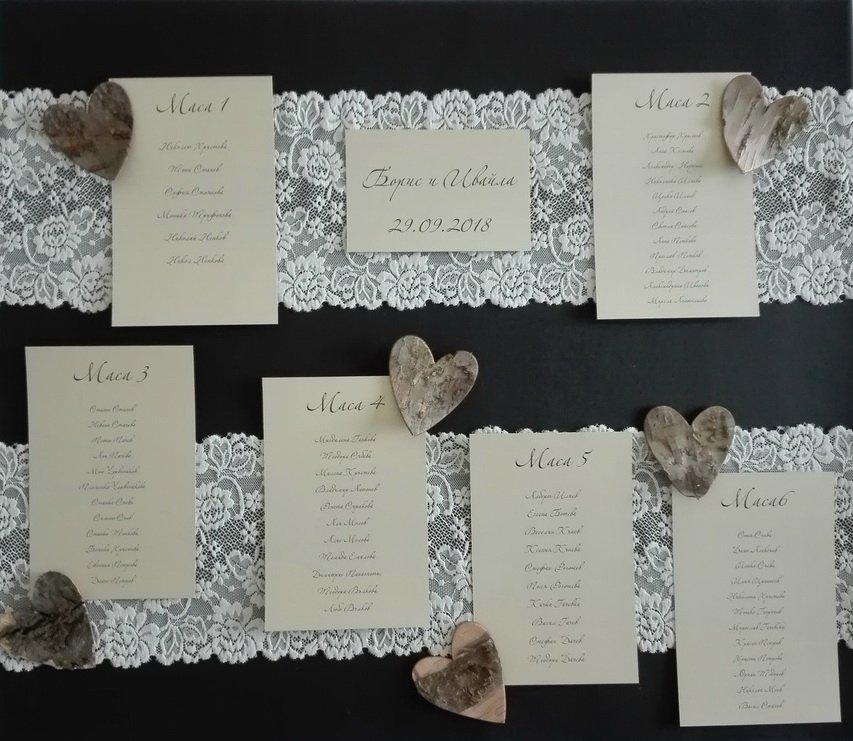 Сватбено табло 1