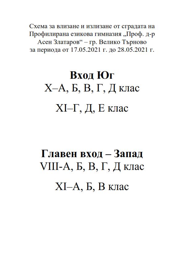 ОРЕС/Присъствено обучение 2020/2021 г.