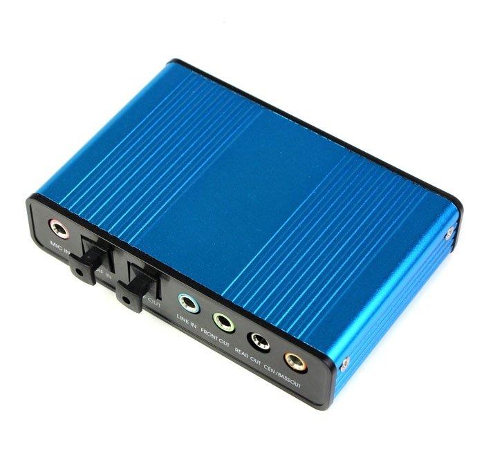 Външна USB 6 канална 5.1 звукова карта