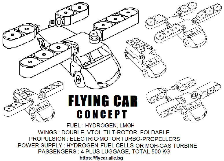 Hybrid-Hydrogen Gas-Electric Car